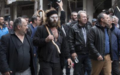 Οι αγρότες της Κρήτης στην Αθήνα